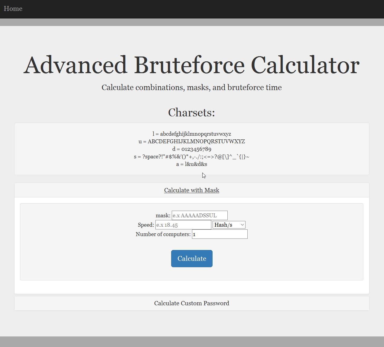 The Bruteforce Calculator! – Kunal's Database Blog